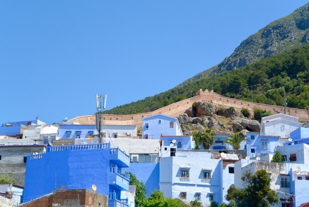 City wall in Chefchaouen
