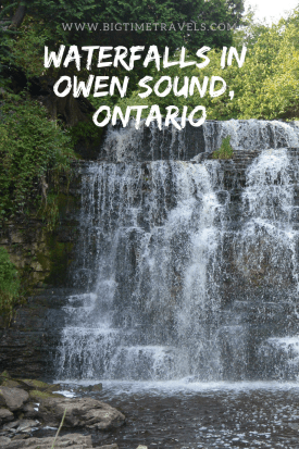 Owen Sound, Ontario is a small city located approximately 2.5 hours from Toronto and is home to four beautiful waterfalls. #OwenSound #GreyCounty #Ontario #Waterfalls #Canada