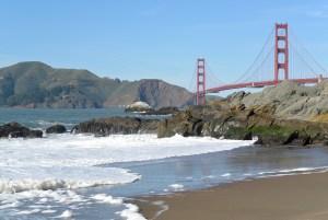 Golden Gate Bridge at Baker's Beach in San Fransisco