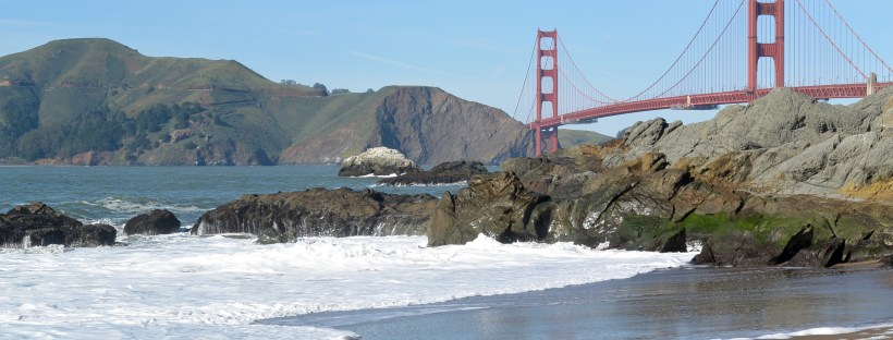 Golden Gate Bridge at Baker's Beach in San Fransisco