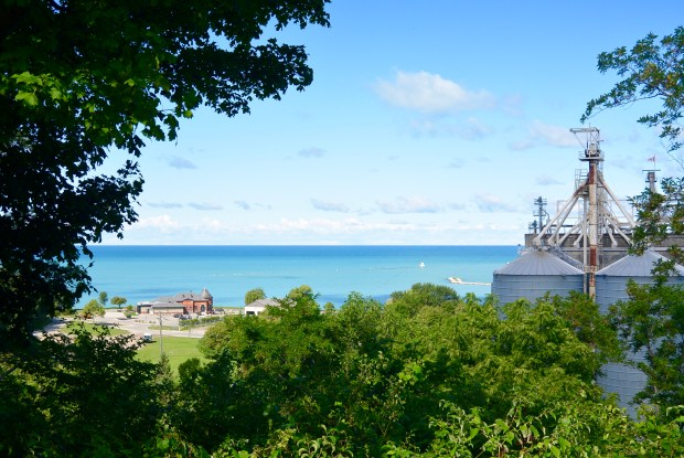 View of the Goderich Salt Mine