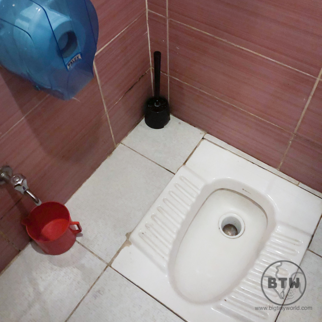 A squat toilet in Japan