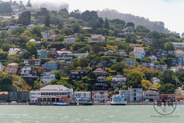 Looking back at Sausalito from the San Francisco Bay | BIG tiny World Travel