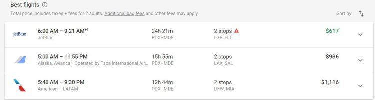 Flight List Medellin Google Flights