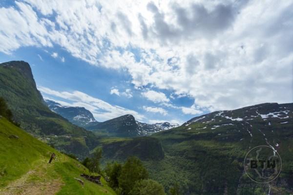 Mountain view near Geiranger Fjord