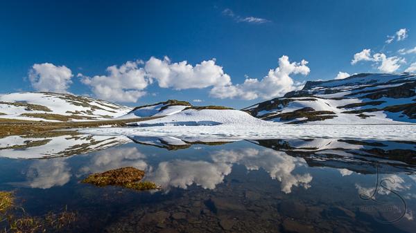 Snowy Lake in Norway