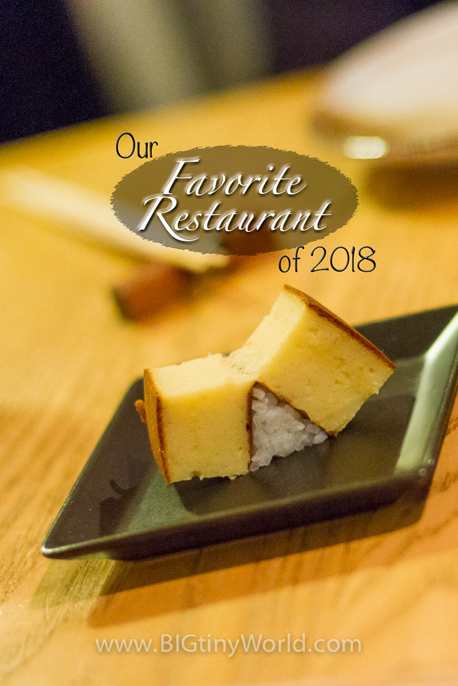 Our Favorite Restaurant of 2018 | BIG tiny World Travel | We just love to eat! It's so difficult to pick just one favorite restaurant out of an entire year of eating, but this one stood above the rest. Click to read all about it! | #travel #food #seattle #sushi #travelcouple #luxurytravel #finedining #cityfood