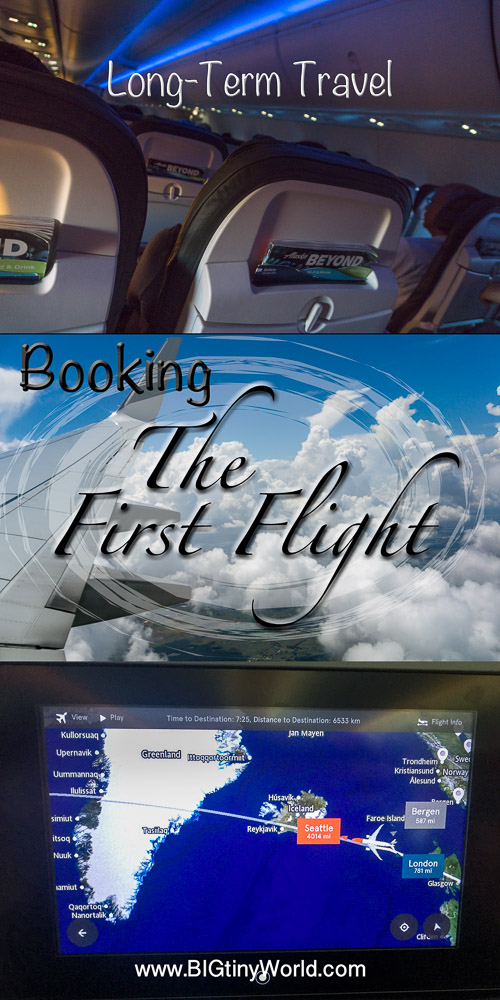 Long-term Travel: Booking the First Flight | BIG tiny World Travel | We've waited two long years for this moment, and it's finally arrived!  We're booking the very first flight of the trip of a lifetime!  Read how we got here and what you should consider if you're also planning a similar trip! | #internationaltravel #aroundtheworld #coupletravel #travel #travelplanning
