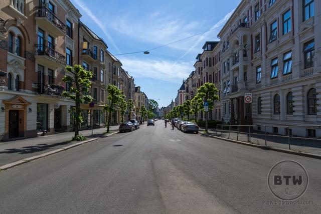 An empty city street in Oslo, Norway | BIG tiny World Travel
