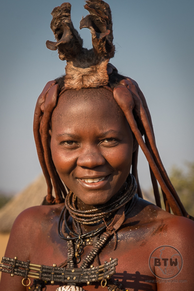 Himba Woman Head dress and braids