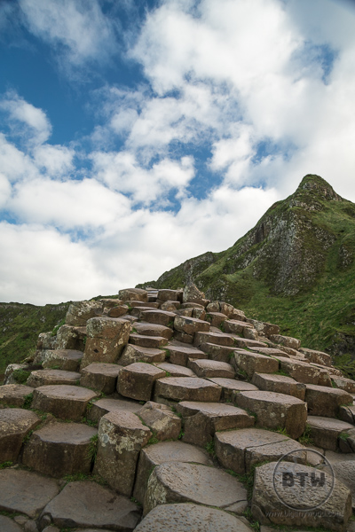 Giants Causeway with Clouds