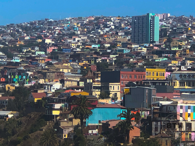 Valparaíso Hills with Colorful Buildings