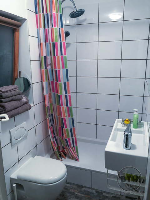 Shower in Germany with no rubber mat