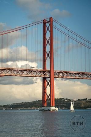 The April 25 Bridge in Lisbon, Portugal