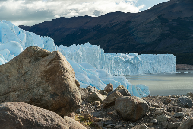 Near edge of Perito Moreno Glacier
