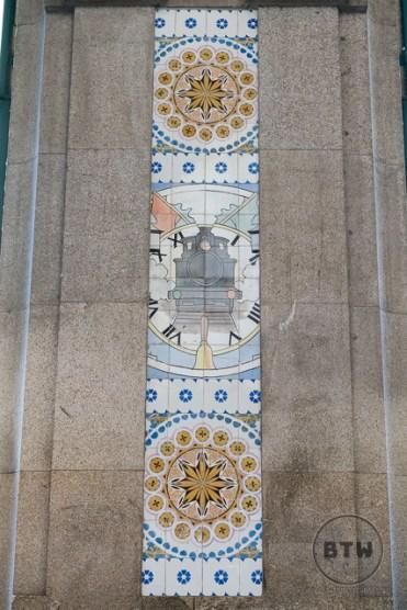 Azulejos at the Sao Bento Train Station in Porto, Portugal