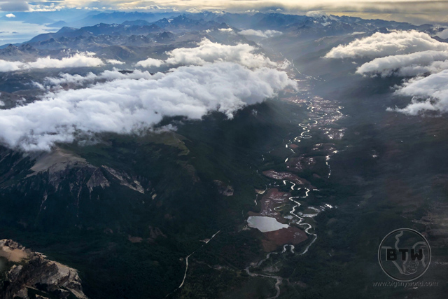 Argentina, just north of Ushuaia, as seen from the sky