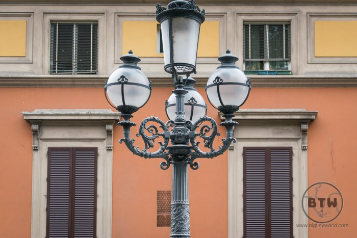 Lamp post in Bologna, Italy