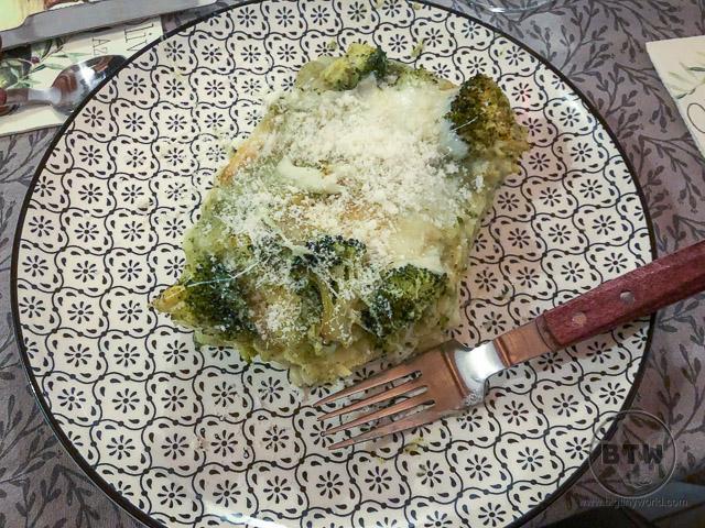 Homemade lasagna in Reggio Emilia, Italy