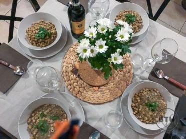 Lentil and pasta soup in Reggio Emilia, Italy