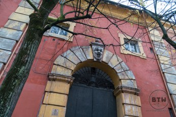 Building doorway in Modena, Italy