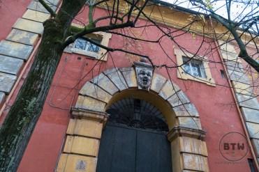 Building doorway in Modena, Italy