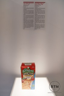 A box of pizza mix at the Museum of Broken Relationships in Zagreb, Croatia