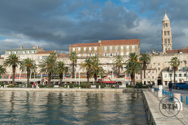 The waterfront just outside the walls of Split, Croatia