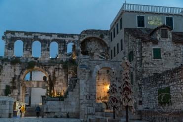 The old wall surrounding Split, Croatia