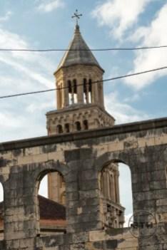 The St. Domnius Bell Tower in Split, Croatia