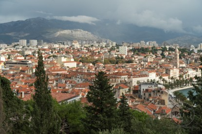 The view of Split, Croatia, from atop the western hill