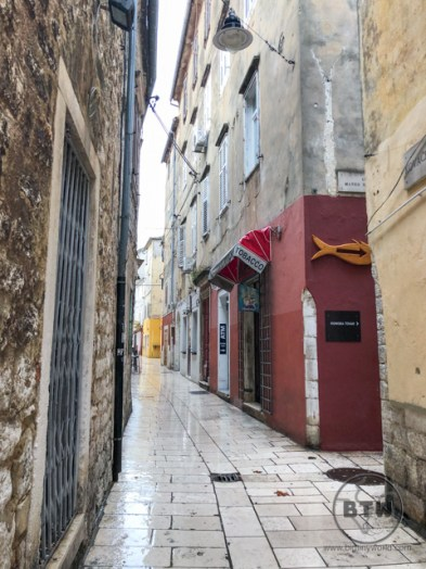 A narrow walkway in oldtown Zadar, Croatia