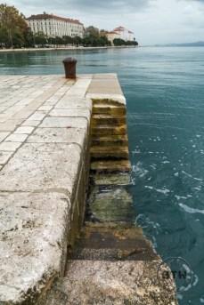 Steps leading into the water in Zadar, Croatia