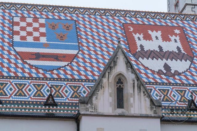 A tiled rooftop in Zagreb, Croatia