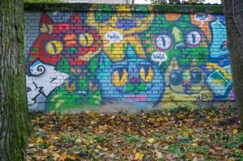 Street art of cats in Zagreb, Croatia