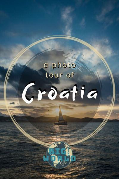 A Photo Tour of Croatia | Croatia has so much beauty to offer.  From cities to sunsets, fortresses to waterfalls, these photos are sure to inspire your wanderlust for this stunning country! | BIG tiny World Travel | #bigtinyworld #travelphotography #visitcroatia #beautifulcroatia #travel
