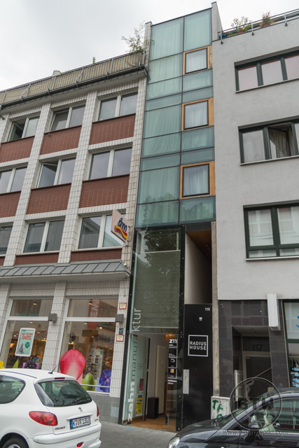 Eigelstein 115, the narrowest building in Cologne, Germany