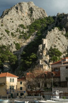 The fortress overlooking Omis, Croatia