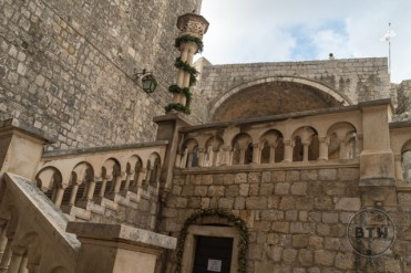 Steps to the gate of Dubrovnik, Croatia
