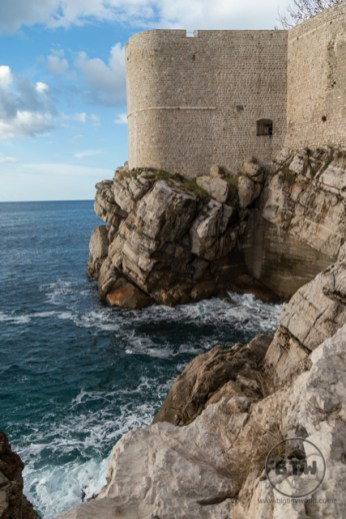 Outside the walls of Dubrovnik, Croatia, on the water