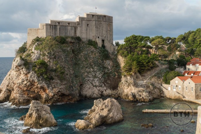 The fortress in Dubrovnik, Croatia