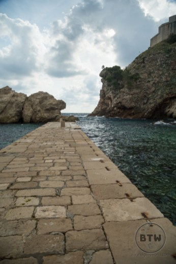 The pier in Pile Bay in Dubrovnik, Croatia