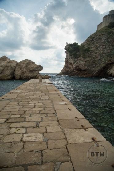 The pier in Pile Bay in Dubrovnik, Croatia