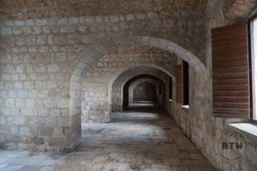 Tunnels at the fortress in Dubrovnik, Croatia
