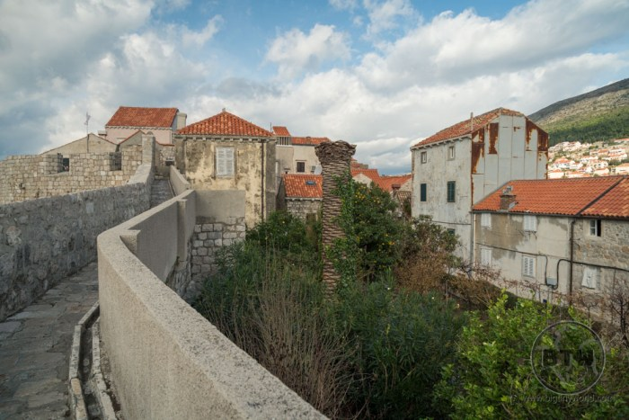 The city wall in Dubrovnik, Croatia