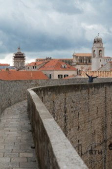 Aaron on the wall of Dubrovnik, Croatia