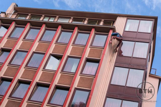 Spiderman on a brothel in Frankfurt, Germany