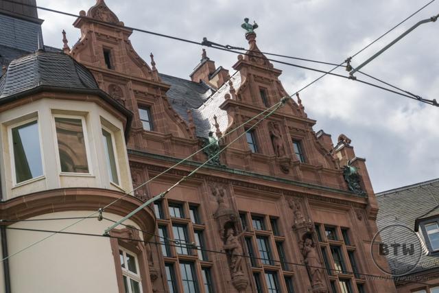A building facade in Frankfurt, Germany