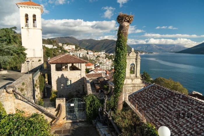 The afternoon view of Herceg Novi in Montenegro
