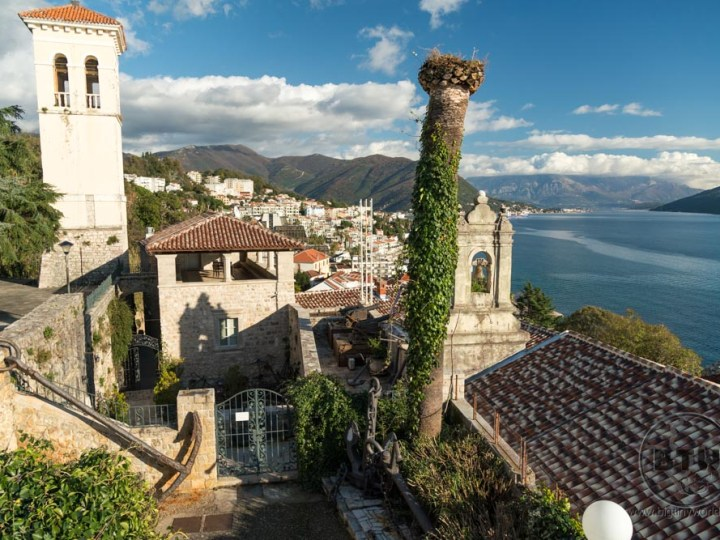 The afternoon view of Herceg Novi in Montenegro